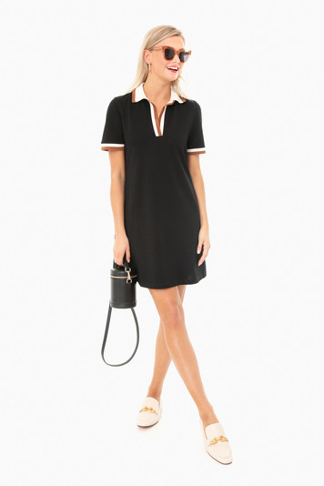 black hutton polo dress