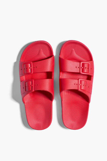 red moses sandals