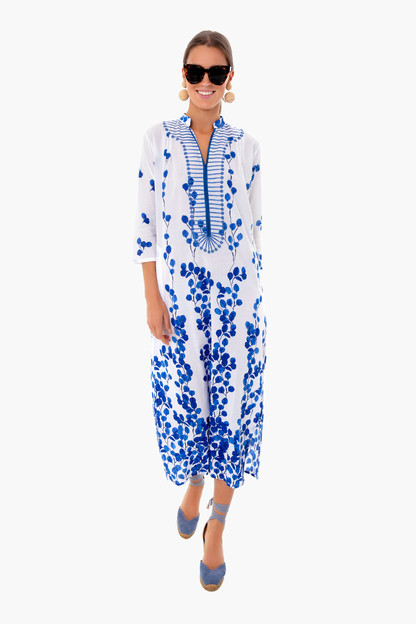leaf blue clorinda long kurta