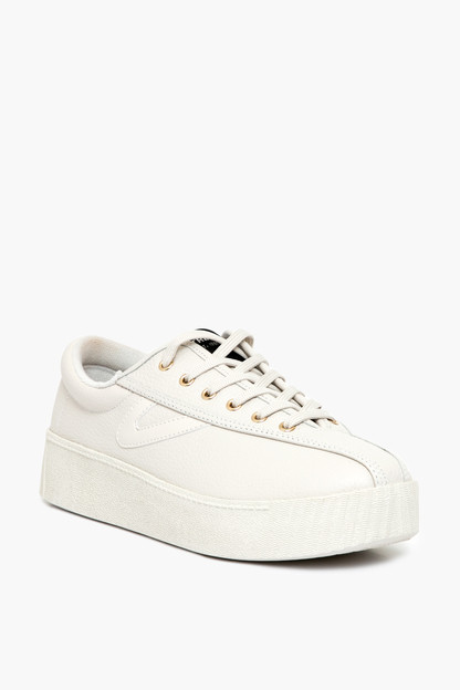 leather platform nylite sneakers