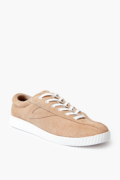 faux suede beige nylite sneakers