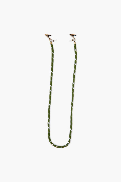 army green stripe rope mask chain