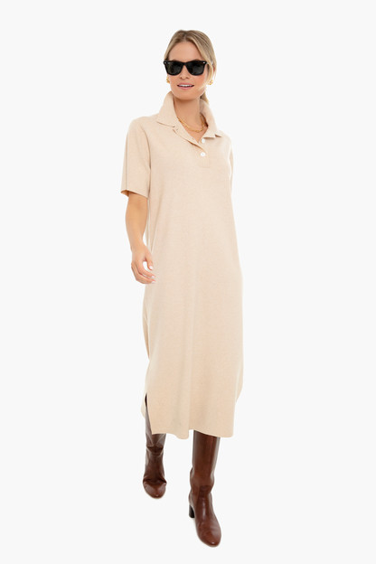 tan channing polo midi dress
