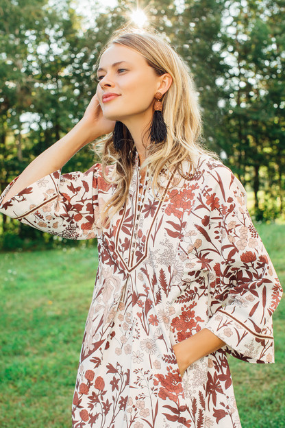 autumn wildflower indre dress
