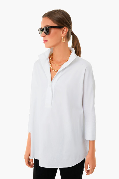 blanc willow blouse