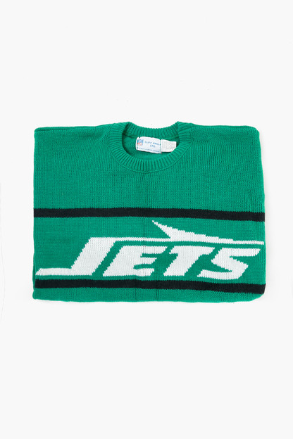 green jets sweater
