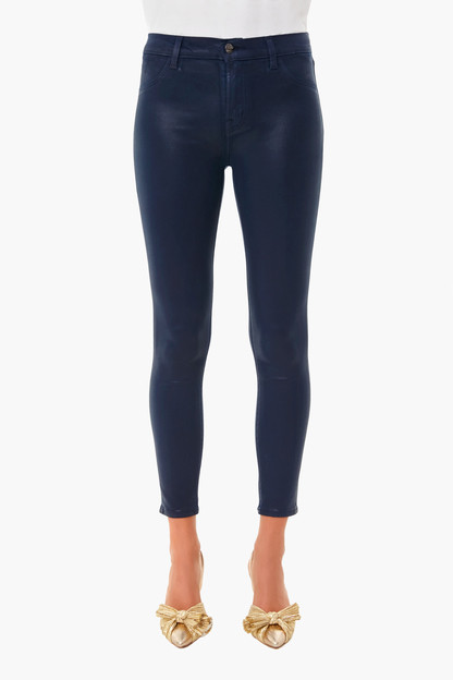 Stellar Navy Alana High Rise Coated Crop Skinny Take up to 30% off with code BIGSALE.