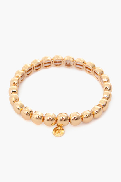 7mm gold bubble bracelet