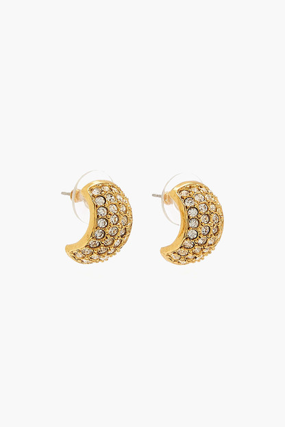 crystal antique gold liesel earrings