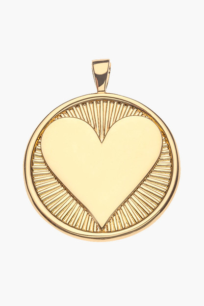 gold hearts find me love pendant