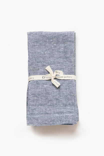 Indigo Washed Linen Napkins This item ships directly from the vendor within 5 business days.