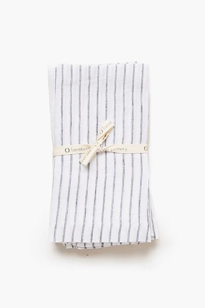 striped washed linen napkins