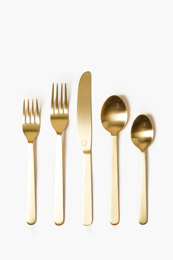 gold stowe flatware