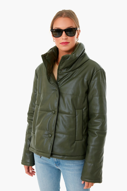 olive leather ralph jacket