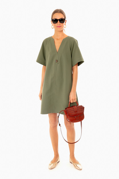 sage green ines tunic dress