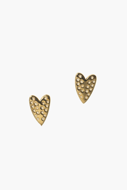 love on top heart studs