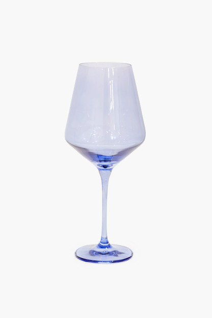 cobalt blue stemmed wine glasses (set of 6)