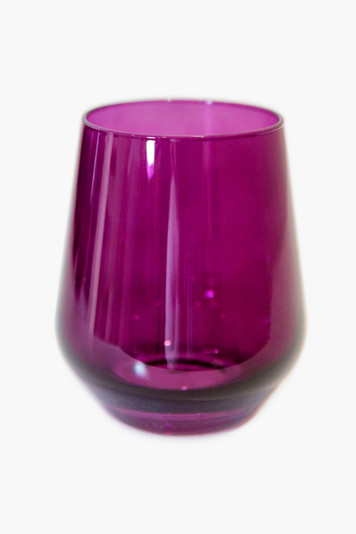 amethyst stemless wine glasses (set of 6)