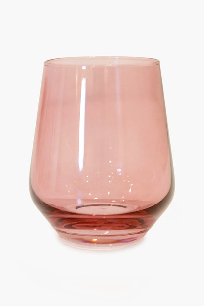 rose stemless wine glasses (set of 6)