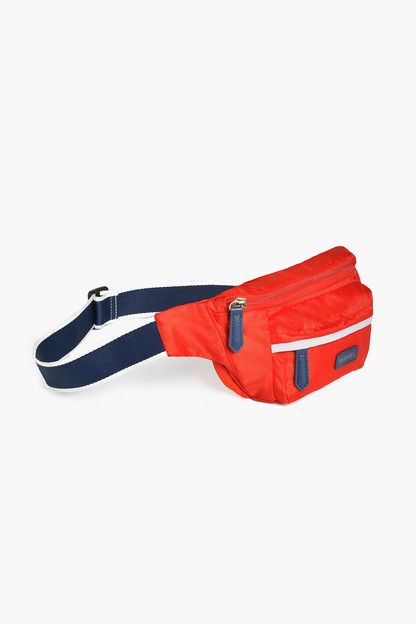 Bebop Red Fold Up Belt Bag Allow 14-21 days for monogram products to ship. Your entire order will ship together once completed.