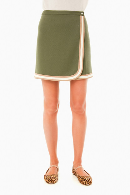 army green campbell wrap skirt