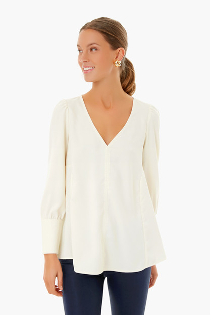 ivory silk rockstud cuff  easton blouse