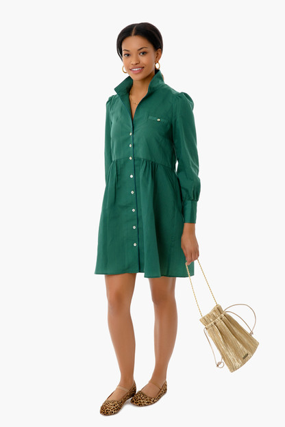 Green and Blue Striped Florence Shirt Dress Take up to 30% off with code BIGSALE.