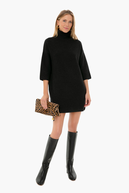 noir vivianne turtleneck dress