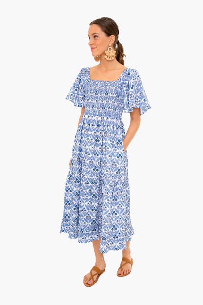 sky trellis lolita long dress