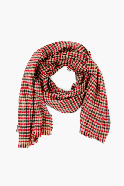 red lollipop plaid scarf