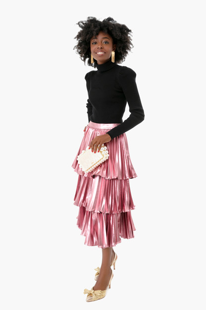 flamingo pink ariana skirt