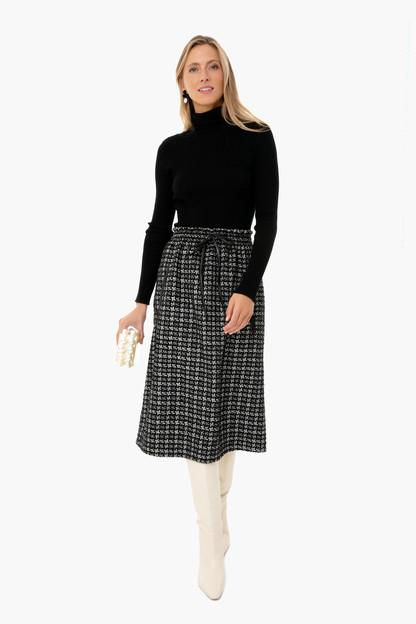 black tweed cece skirt
