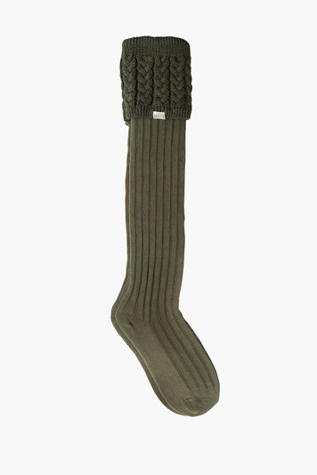 olive trinity knitted socks