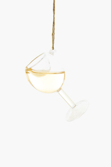 glass of chardonnay ornament