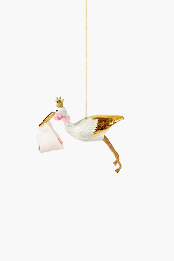 baby girl special delivery ornament