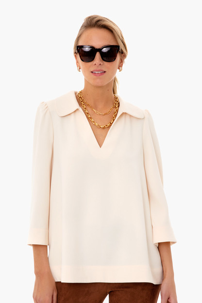 addison retro collar blouse