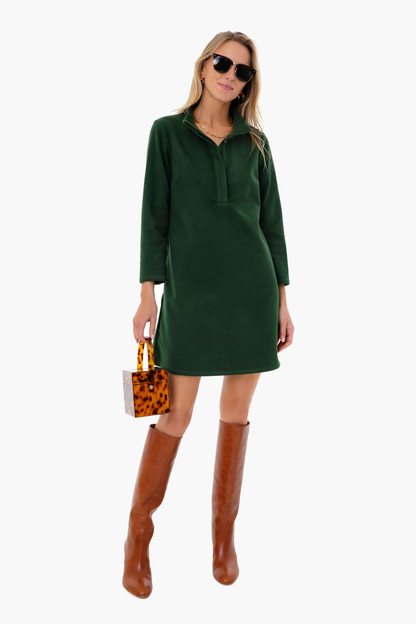 deep green avery dress