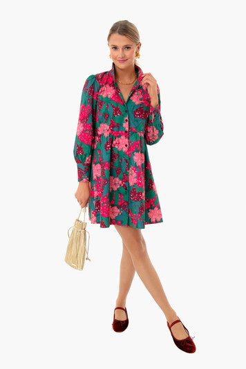 hydrangea florence shirt dress
