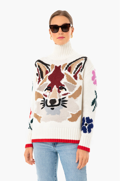 artemis fox mock neck sweater