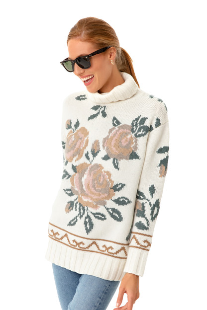ivory dahlia turtleneck sweater