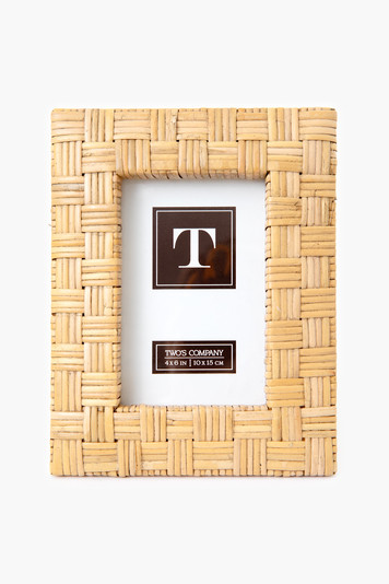 woven rattan 4x6 picture frame