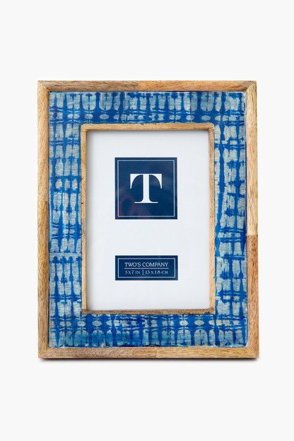 striped shibori 5x7 picture frame