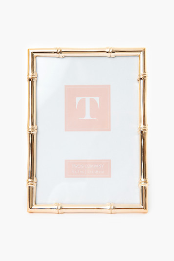 rose gold bamboo 5x7 picture frame