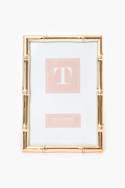 rose gold bamboo 4x6 picture frame