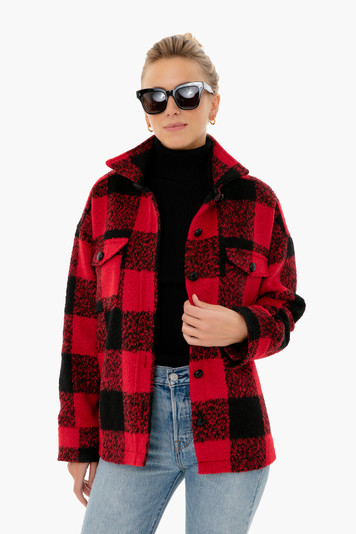 buffalo check austen shirt jacket
