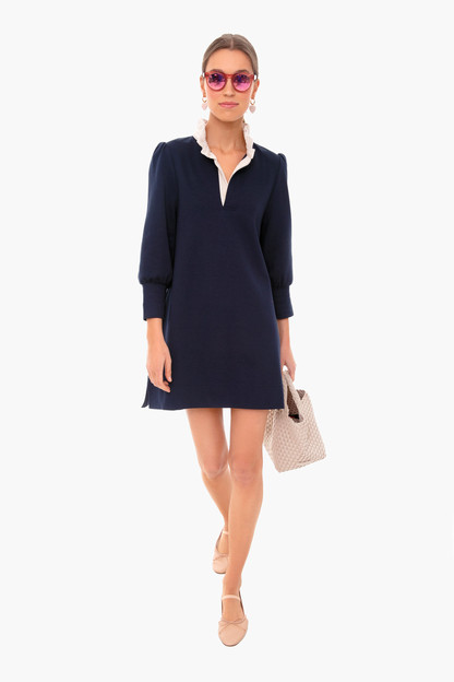 navy charlotte terry dress
