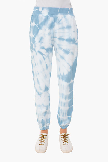 blue agave emery spiral tie dye joggers