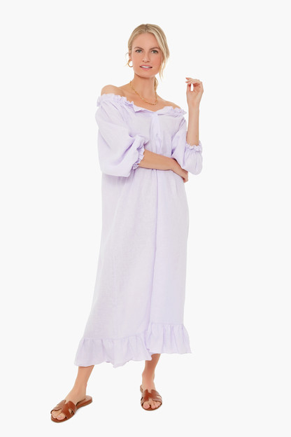 lavender loungewear dress