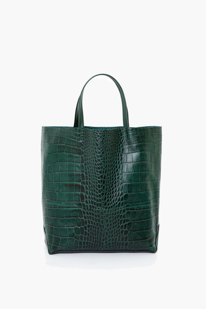forest croc embossed large tote