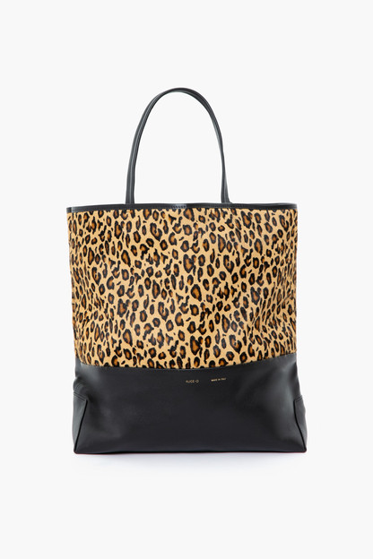 leopard and black large tote